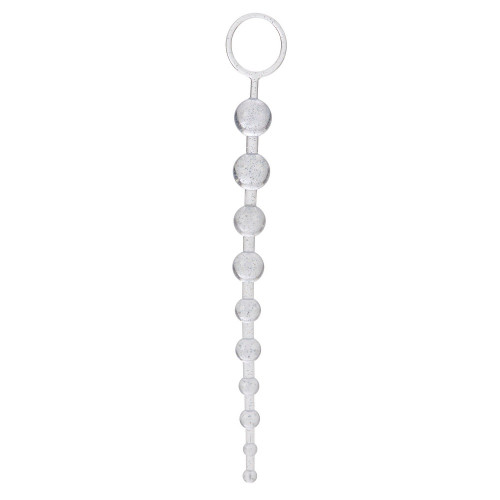 Toy Joy 10,5'' İnch 26,7 cm Şeffaf Anal Alıştırıcı Fantazi Boncuklar