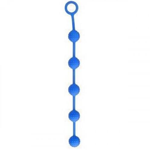 Delight Throb 11'' İnch 28 cm Mavi Anal Beads Silikon Anal Top