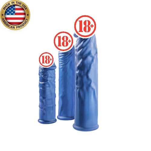 Amerixx Farklı Boylarda Penis Kılıfı Seti Mavi