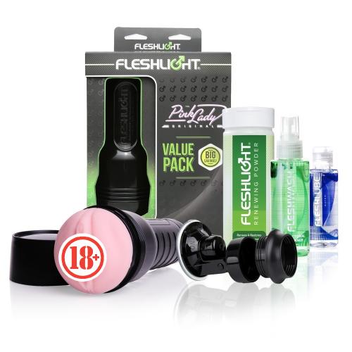 Orjinal Fleshlight Pink Lady Value Pack Masturbatör Seti