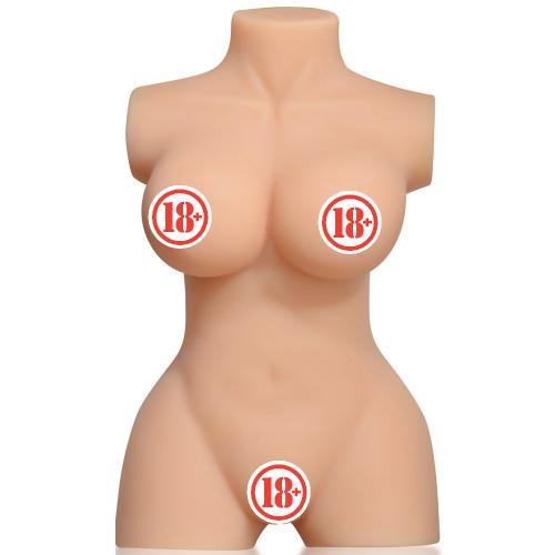 Busty Lady Pussy Mini Çift Girişli Realistik Silikon Yarım Vücut 9 Kg Kadın Manken