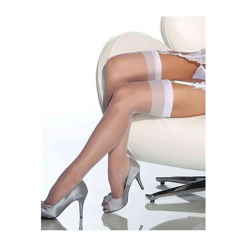 Meyrabest Beyaz Dantelsiz Jartiyer Çorabı
