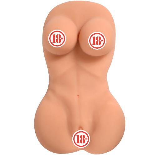 Meybee Gerçek Ten Dokusu Silikon Dolgun Yarım Vücut Vajina Masturbator 7.5 kg