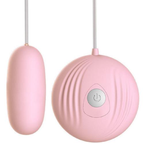 Scom Kumandalı Klitoris Uyarıcılı 7 Modlu Mini Vibratör Pembe