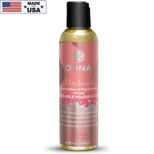 Dona Öpülebilir Vanilyalı Masaj Yağı 110 ml Made İn Usa