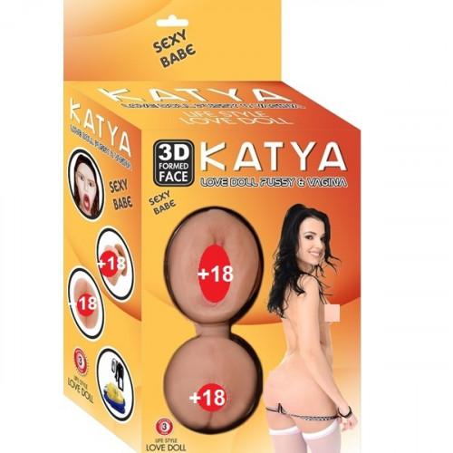 Katya titreşimli vajinalı şişme manken