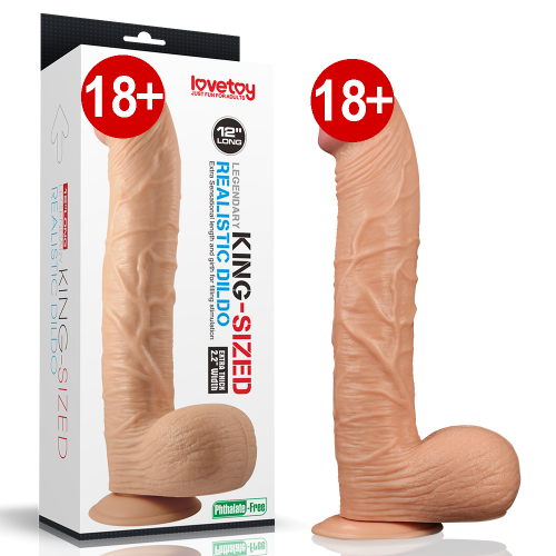 Lovetoy King Sized Legendary Ten Dokusunda Dev Dildo 30 cm