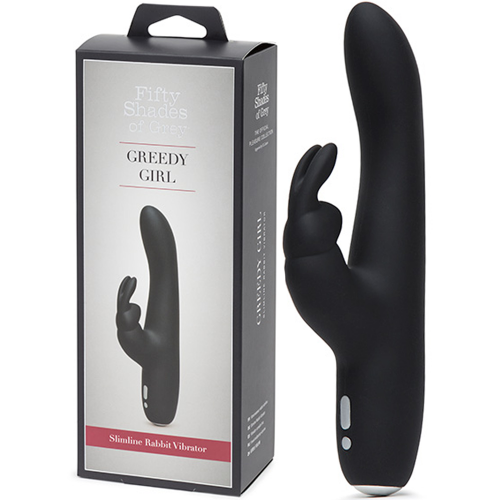 Fifty Shades of Grey Greedy Gril Rechargeable Clitoral Rabbit Vibrator 20 Modlu