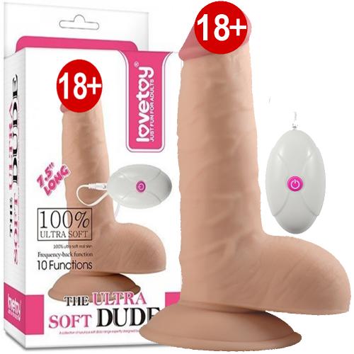 Lovetoy The Ultra Soft Vibrating 19 cm Gerçek Ten Dokusu Realistik Vibratör