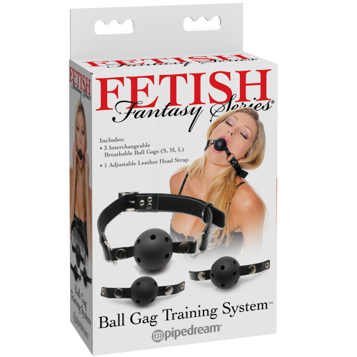 Fetish Fantasy Ball Gag Training System 3'lü Ağız Topu Seti