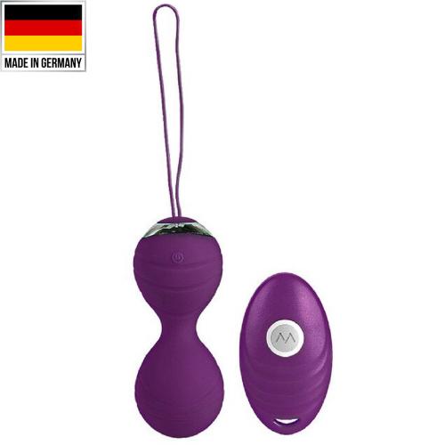 Benwa Balls Usb Şarjlı ve Uzaktan Kumandalı Mini Kegel Vibratör Mor