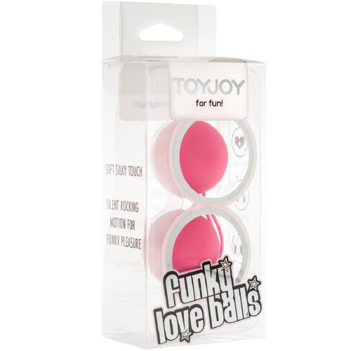 Toy Joy Funky Love Balls 2'li Kegel Top & Anal Top Pembe
