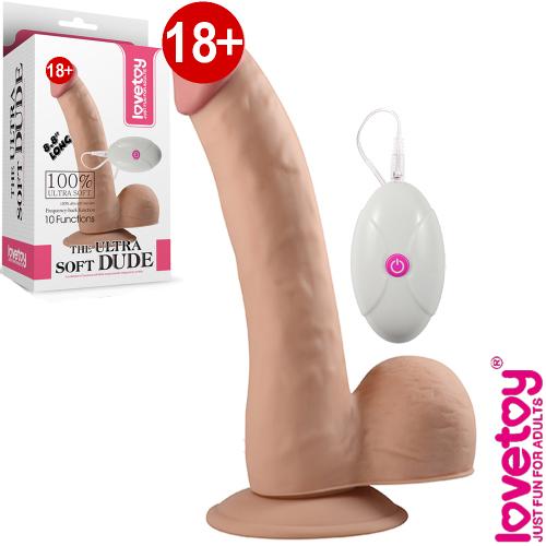 Lovetoy The Ultra Soft Dude Vibrating Realistik Gerçekçi Vibratör 22.5 cm