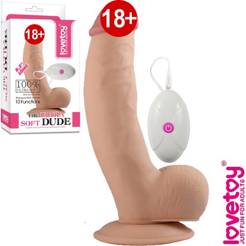 Lovetoy The Ultra Soft Dude 22.5 cm Gerçek Et Dokusu Vibratör