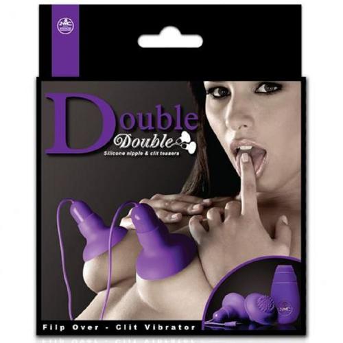 Double Double Silikon Titreşimli Göğüs Uyarıcı ve Klitoris Uyarıcı