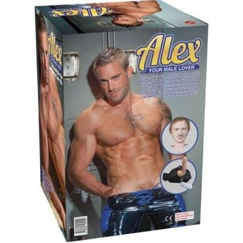 Alex Realistik Titreşimli Erkek Şişme Manken