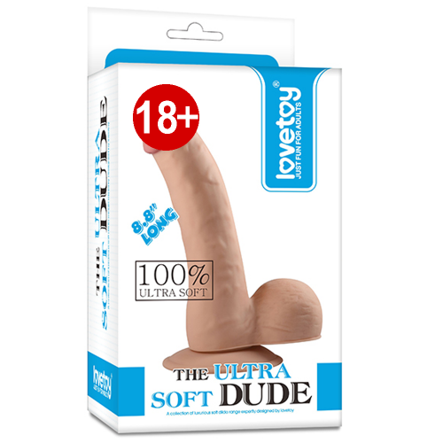 Lovetoy The Ultra Soft Dude 22.5 cm Ultra Yumuşak Realistik Eğik Penis