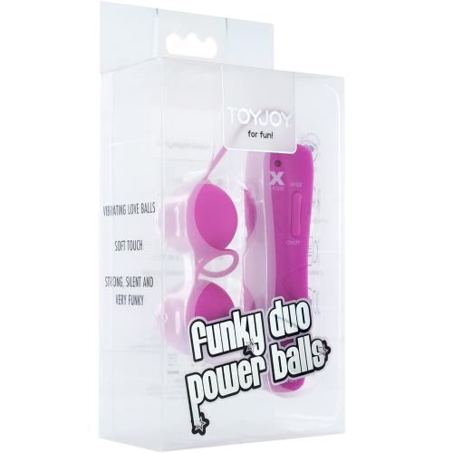 Toy Joy Funky Triple Power Balls 2'li Titreşimli Kegel Top ve Anal Top