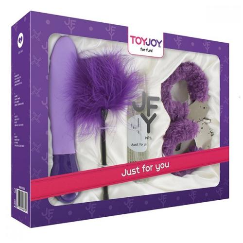 Toy Joy Just For You Purple Vibratör Fetiş Set