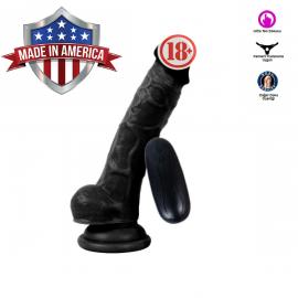 17 cm Ten Dokusunda Amerikan Zenci Vibratör