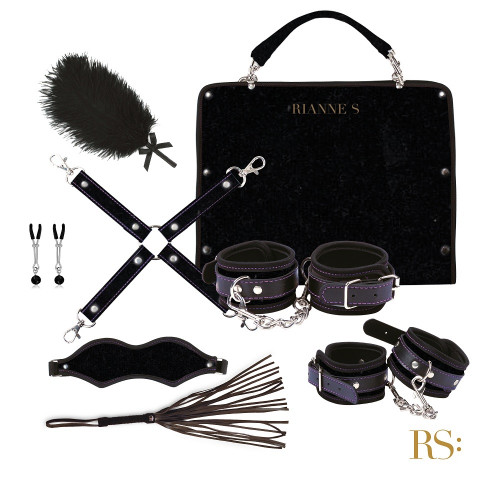 Rianne S Kinky Me Softly Black Kelepçe Fetiş Set