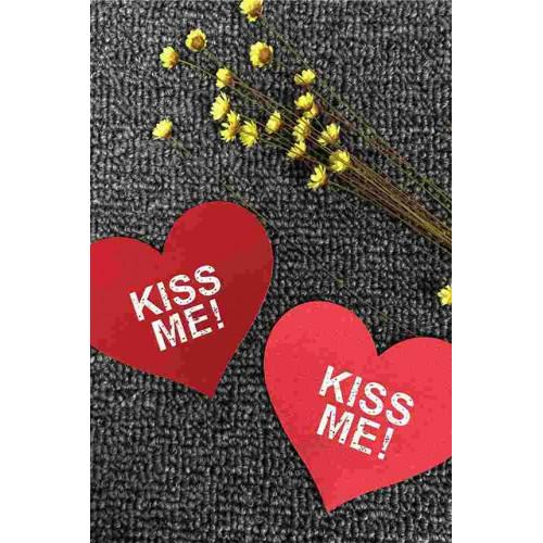 Merry See Kiss Me! Yazılı Gögüs Ucu Kapatıcı