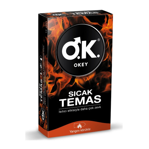 Okey Sıcak Temas Prezervatif Isıtıcı Etkili Kondom