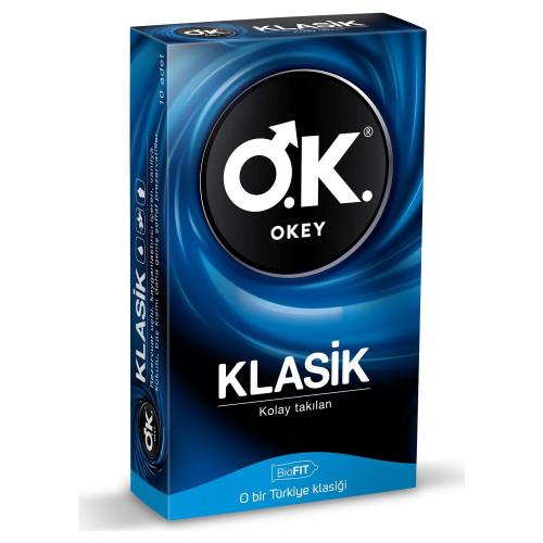 Okey Klasik Prezervatif 10 lu Paket Kondom