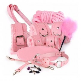 Meyra Best Fetish Fantasy Pembe Pozisyon Set Fantazi Full Set 7'li Paket